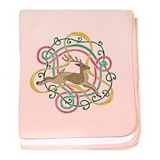 Celtic Reindeer Knots baby blanket