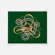 Celtic Reindeer Knots Throw Blanket