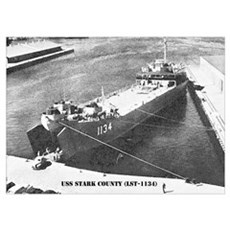 USS STARK COUNTY Poster