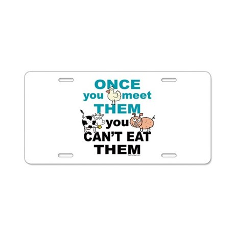 Animal Compassion Aluminum License Plate