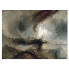 Snow Storm Steam Boat Poster