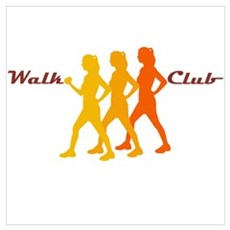Walk Club Framed Print
