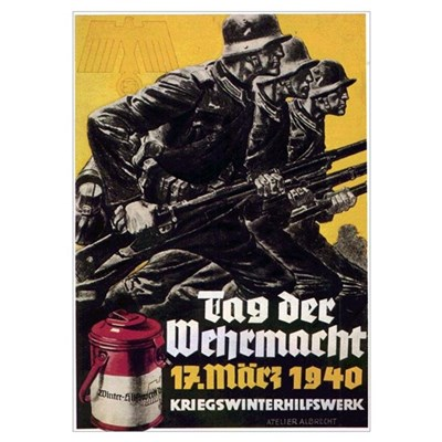 World War II German Poster