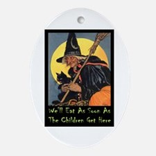 We'll Eat When the Kids Get Here Ornament (Oval)