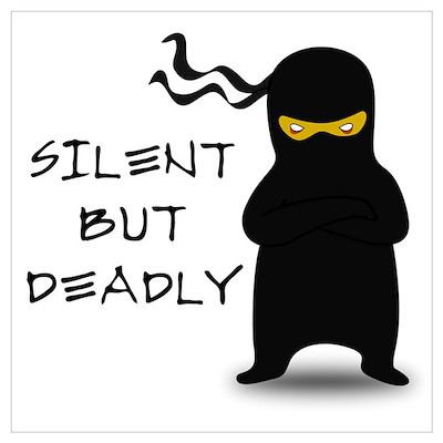 Silent but Deadly Ninja Poster