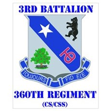 DUI - 3rd Bn - 360th Regt (CS/CSS) with Text Large Poster