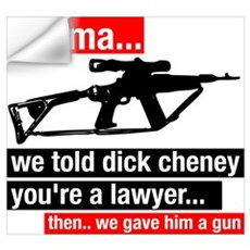 Cheney hunts Osama Wall Decal