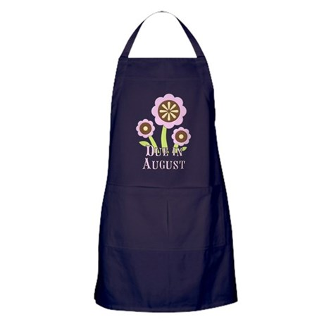Due in August Expectant Mother Apron (dark)