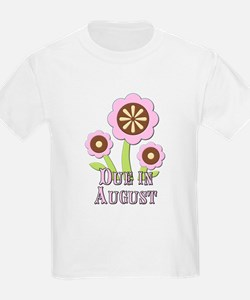 Due in August Expectant Mother T-Shirt