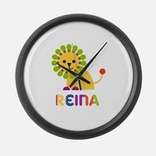 Reina the Lion Large Wall Clock