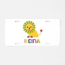 Reina the Lion Aluminum License Plate