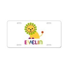 Evelin the Lion Aluminum License Plate