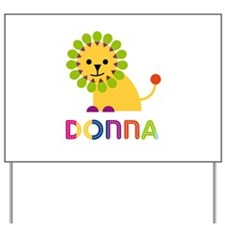 Donna the Lion Yard Sign