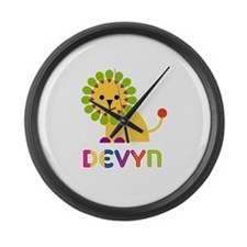 Devyn the Lion Large Wall Clock