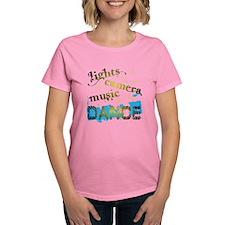 Lights Camera Music Dance Tee