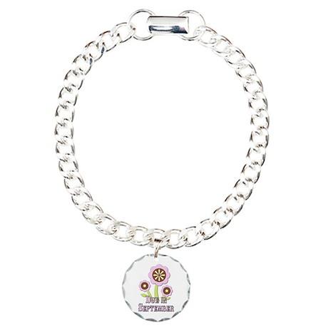 Due in September Expectant Mother Charm Bracelet,