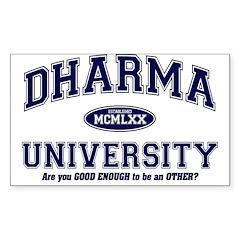 Dharma University Rectangle Decal
