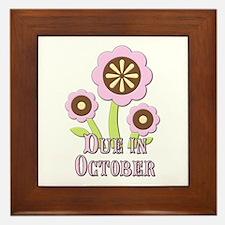 Due in October Expectant Mother Framed Tile