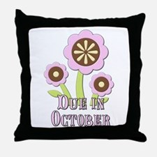 Due in October Expectant Mother Throw Pillow