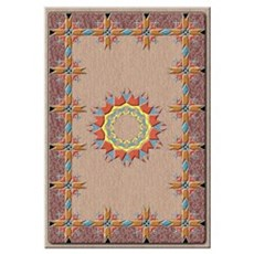 w/ Navajo rug design Poster
