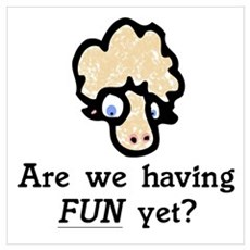 Are we having fun? Baaah! Framed Print