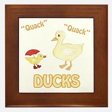 Ducks Framed Tile