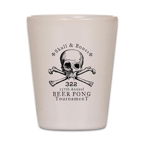 Bonesman Beer Pong Shot Glass