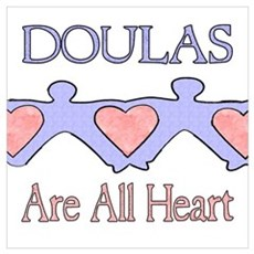 Doulas Are All Heart Framed Print