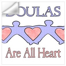 Doulas Are All Heart Wall Decal