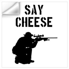Sniper Say Cheese Wall Decal