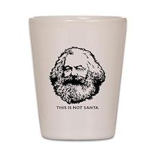 Marx Not Santa Shot Glass