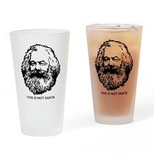 Marx Not Santa Drinking Glass