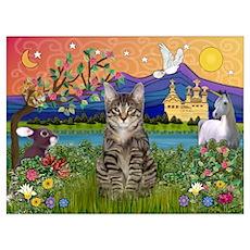 Fantasy Land / Tiger Cat Poster