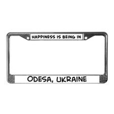 Happiness is Odesa License Plate Frame
