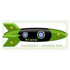 Japanese Star Rocket Poster