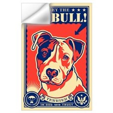 Obey the Pit Bull! USA Propaganda Wall Decal