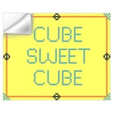 Cube Sweet Cube Wall Decal