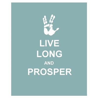 Live Long & Prosper Canvas Art