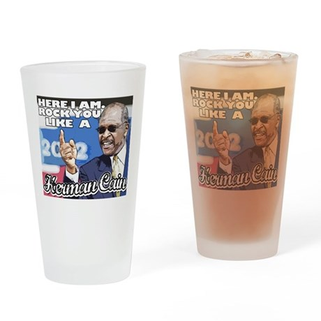 Herman Cain 2012 President - Drinking Glass