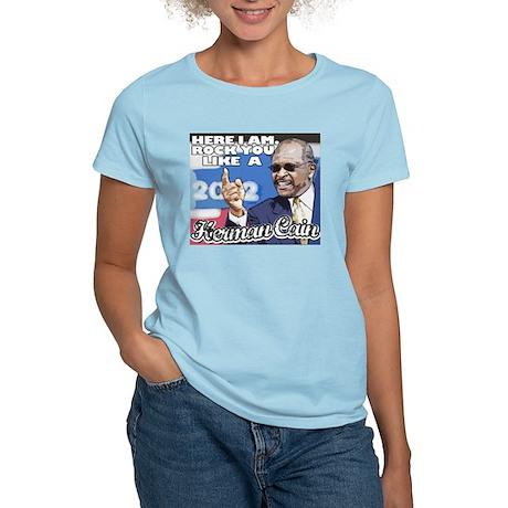 Herman Cain 2012 President - Women's Light T-Shirt
