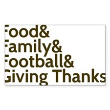 Family & Football & Turkey & Decal