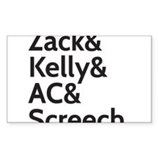 Zack & Kelly Decal