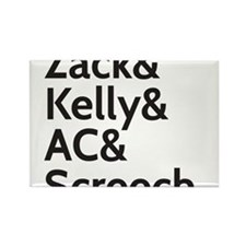Zack & Kelly Rectangle Magnet