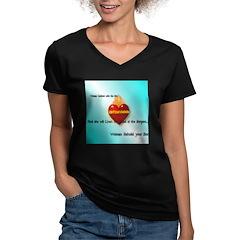 Immaculate Heart Women's V-Neck Dark T-Shirt