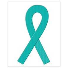 Teal Ribbon Canvas Art