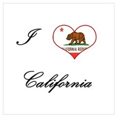 I Love (Heart) California Framed Print