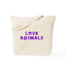 Love Animals_Purple Tote Bag