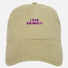 Love Animals_Purple Baseball Baseball Cap