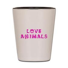 Love Animals_Pink Shot Glass