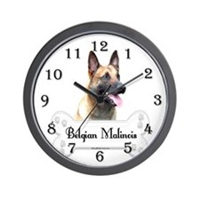 Malinois 2 Wall Clock